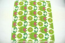 Frogs Polka Dots Flowers Baby Blanket Can Be Personalized 36x40