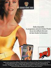Publicité Advertising 1991 Radio NRJ  programme minceur Jane Fonda