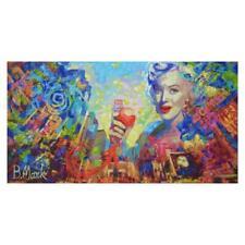 """Mark Braver """"Marilyn New York Rare Mixed Media Acrylic on Canvas Hand Signed LOA"""