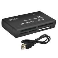 All in One Memory Card Reader USB External SD SDHC Mini Micro M2 MMC XD CF Black