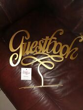 "Studio his & hers ""Guestbook"" Table Sign Piece-New"