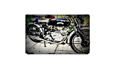 1950 vincent comet Bike Motorcycle A4 Photo Poster