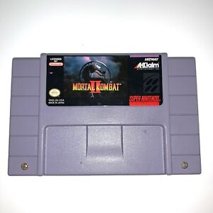 Mortal Kombat II 2 - SNES Super Nintendo Game - Tested Working Authentic!
