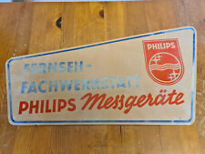 Philips Werbeschild Fernseh Fachwerkstatt Philips Messgeräte