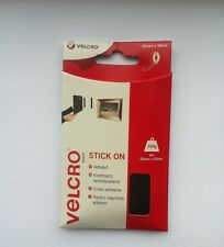 Velcro 20mm x 50cm Stick On Hook & Loop Strip Black Self Adhesive cut to size
