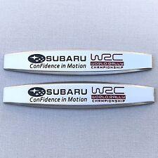 NEW (2pc) SUBARU WRC LOGO FENDER DOOR METAL EMBLEM NAMEPLATE BADGE EM092