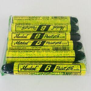 "Pack of 12 Markal Paintstik Paint Stick B Markers 11/16"" Black Lot Graffiti Art"