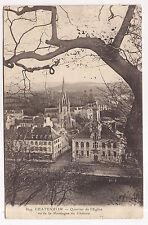 chateaulin , quartier de l'église ,vu de la montagne du château