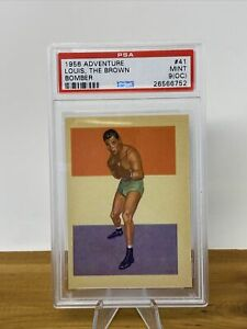 1956 Topps Adventure Boxing Joe Louis THE BROWN BOMBER #41 PSA 9(OC) HOF Tyson