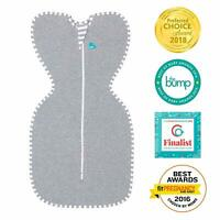 Love to Dream Swaddle Up Baby Swaddling Blanket Sleeping Bag GREY Small 7-13lbs