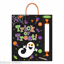 Halloween Smiling Ghost Party Trick Or Treat Candy Meter Plastic Tote Treat Bag