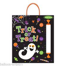 SORRIDENDO fantasma di Halloween festa dolcetto o scherzetto CANDY METRO IN PLASTICA Tote borsa da trattare