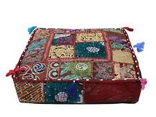 35 Indian Floor Cushion Square Cover Patchwork Pillow Pouf Meditation Boho Decor