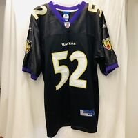 Ray Lewis Baltimore Ravens Men's Reebok On Field Sewn Football Jersey Size 52