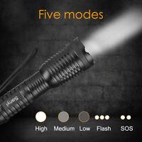 Bright CREE XM-L T6 LED 18650 Flashlight 5-Mode Zoomable linternas LED Torch