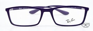 Ray Ban RB7048 5443 Purple Matte New Authentic Eyeglasses 53