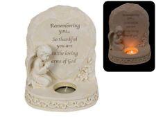 16cm Cherub Memorial Candle Verse Remembering you... Statue
