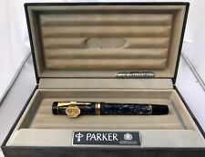 Parker Duofold Blue Marble Fountain Pen