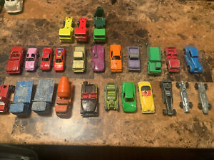 tootsietoy Lesney Play art ECT Vintage Lot Of 25 Cars And Trucks Must See.