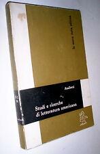 Studi e ricerche di letteratura americana / Rolando Anzilotti