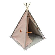 Makah Tipi Spielzelt rosa-rauchgrau    rosa 112 x 112 cm, h 140 cm