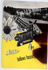 Orig. Leitz Ny Sales Brochure for Leica Focusing Bellows Device - 8 pages - 1950