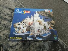 MB Puzz 3D Greek Village, New, shrink wrapped, 246 pieces, rare, 1999