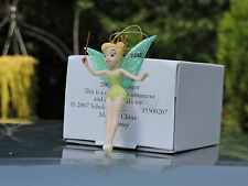 Amazing Disney Grolier Tinkerbell Porcelain ornament 2007 NEW RARE