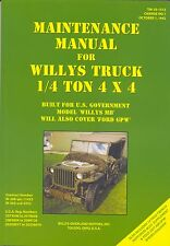WW2 jeep TM10-1513 WILLYS MB FORD GPW Manual Book (pas de CD) US Jeeps années 1940