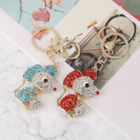 2020 Rat Mouse Keychain Rhinestone Crystal Ball Pendant Handbag Purse Jewe yi