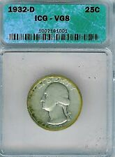 1932-D Washington Quarter : ICG VG08
