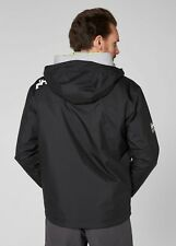 2017 Helly Hansen Hooded Crew Mid Layer Jacket Black 33874 Large