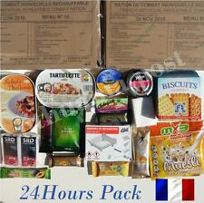 Food Ration MILITARY Daily Pack FRENCH ARMY MRE Emergency Set Combat Ration 24H