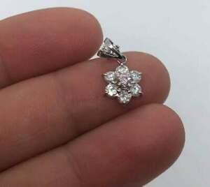 AUD $11,800 Stunning Solid Platinum Pink & White Diamond Pendant
