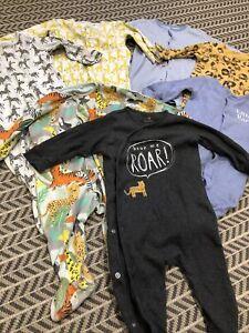 Next Sleepsuits bundle 6-9 - Boy/girl/unisex, Animal, Jungle, colourful Excellen