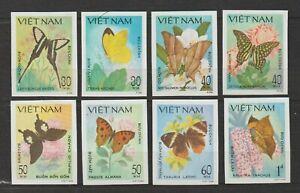 1983 Vietnam Stamps Butterflies Collection Sc # 1308-1315 Impert MNH