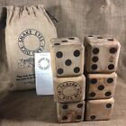Snake Eyes Wood Yard Dice Lawn Game Solid USA Made
