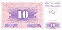 Bosnia & Herzegovina 10 Dinara  1.7.1992  P 10a Prefix CG  Uncirculated Banknote