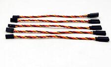5pcs Heavy Duty Servo Extension Twisted Wire 22AWG 6in/15cm (JR/Hitec/Spektrum)