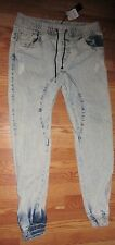 MEN'S NEW WITH TAGS C.N. BLUE 100% COTTON JEANS CROPPED ANKLES SIZE XL*