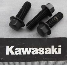 Genuine Kawasaki Tornillo embridado hexagonal Acabado Negro 8mm M8x25mm 132J0825 3-Pack