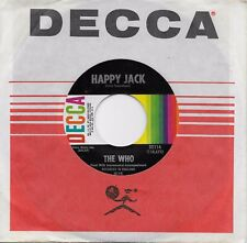THE WHO  Happy Jack / Whiskey Man  original 45 on DECCA label from 1967