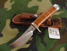 "Randall Knife Knives #20-4 1/2"",Tn,Bsh,Rwbs,Leather, Db #A1936"