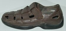 "AETREX ""Gramercy"" Brown Leather Fisherman Comfort Sandals Mens Sz 9.5 W DIABETIC"