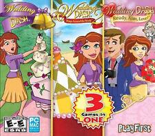 WEDDING DASH 1 2 3 Rings Around the World + Ready Aim Love - 3 PC/MAC Games NEW