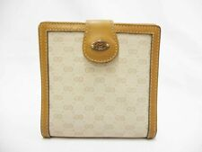 Authentic GUCCI Compact Bi-fold Wallet Leather PVC Old Vintage