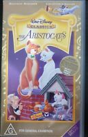 """VHS Walt Disney Classics """"THE ARISTOCATS"""". Limited Release. General Exhibition"""
