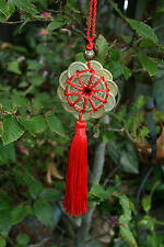 12 LUCKY CHINESE COINS CIRCULAR FENG SHUI TASSEL GOOD FORTUNE PROSPERITY  WEALTH