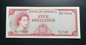 JAMAICA 1960 ( 1964 ) SHILLINGS IN TOP AU CONDITION QEII RARE ELIZABETH 51Ac