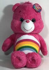 "NWT New In Box Care Bears Cheer Bear 20"" Jumbo Plush"